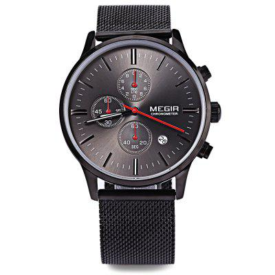 MEGIR M2011 Men Fashion Quartz WatchMens Watches<br>MEGIR M2011 Men Fashion Quartz Watch<br><br>Band Length: 8.12 inch<br>Band Material Type: Stainless Steel<br>Band Width: 22 mm<br>Brand: MEGIR<br>Case material: Alloy<br>Case Shape: Round<br>Clasp type: Hook Buckle<br>Dial Diameter: 1.62 inch<br>Dial Display: Analog<br>Dial Window Material Type: Hardlex<br>Feature: Luminous, Date, Chronograph<br>Gender: Men<br>Movement: Quartz<br>Package Contents: 1 x MEGIR M2011 Men Quartz Watch<br>Package Size(L x W x H): 25.80 x 5.50 x 1.90 cm / 10.16 x 2.17 x 0.75 inches<br>Package weight: 0.108 kg<br>Product Size(L x W x H): 24.80 x 4.50 x 0.90 cm / 9.76 x 1.77 x 0.35 inches<br>Product weight: 0.087 kg<br>Style: Business<br>Water Resistance Depth: 30m