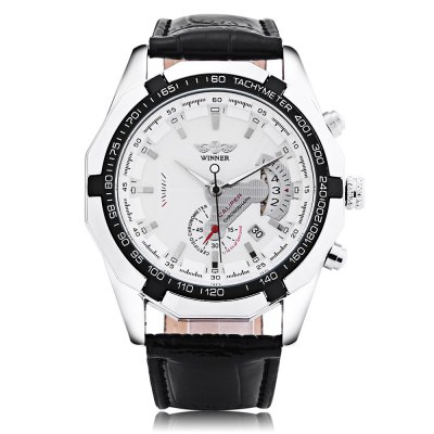 Winner F120535 Men Auto Mechanical WatchMens Watches<br>Winner F120535 Men Auto Mechanical Watch<br><br>Band Length: 8.27 inch<br>Band Material Type: Leather<br>Band Width: 22mm<br>Case material: Alloy<br>Case Shape: Round<br>Clasp type: Pin Buckle<br>Dial Diameter: 1.77 inch<br>Dial Display: Analog<br>Dial Window Material Type: Hardlex<br>Feature: Luminous, Date<br>Gender: Men<br>Movement: Automatic Self-Wind<br>Package Contents: 1 x Watch<br>Package Size(L x W x H): 27.50 x 6.00 x 2.50 cm / 10.83 x 2.36 x 0.98 inches<br>Package weight: 0.109 kg<br>Product Size(L x W x H): 26.50 x 5.00 x 1.50 cm / 10.43 x 1.97 x 0.59 inches<br>Product weight: 0.087 kg<br>Style: Business
