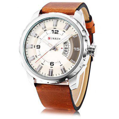 Buy SILVER AND WHITE Curren 8245 Male Quartz Watch for $21.91 in GearBest store