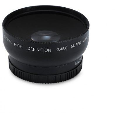 52MM 0.45X HD Wide Angle Macro Camera Lens