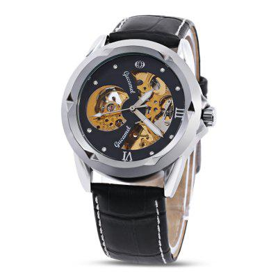 Gucamel G013 Male Auto Mechanical WatchMens Watches<br>Gucamel G013 Male Auto Mechanical Watch<br><br>Band Length: 7.68 inch<br>Band Material Type: Leather<br>Band Width: 20mm<br>Case material: Alloy<br>Case Shape: Round<br>Clasp type: Pin Buckle<br>Dial Diameter: 1.65 inch<br>Dial Display: Analog<br>Dial Window Material Type: Hardlex<br>Feature: Luminous<br>Gender: Men<br>Movement: Automatic Self-Wind<br>Package Contents: 1 x Watch<br>Package Size(L x W x H): 16.00 x 8.00 x 2.00 cm / 6.3 x 3.15 x 0.79 inches<br>Package weight: 0.0960 kg<br>Product Size(L x W x H): 24.00 x 4.50 x 1.50 cm / 9.45 x 1.77 x 0.59 inches<br>Product weight: 0.0730 kg<br>Style: Business<br>Water Resistance Depth: 30m