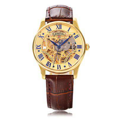 CARNIVAL 6420G Male Auto Mechanical WatchMens Watches<br>CARNIVAL 6420G Male Auto Mechanical Watch<br><br>Band Length: 8.66 inch<br>Band Material Type: Genuine Leather<br>Band Width: 18mm<br>Case material: Stainless Steel<br>Case Shape: Round<br>Clasp type: Butterflu Clasp<br>Dial Diameter: 1.38 inch<br>Dial Display: Analog<br>Dial Window Material Type: Sapphire<br>Gender: Men<br>Movement: Automatic Self-Wind<br>Package Contents: 1 x Watch<br>Package Size(L x W x H): 13.20 x 11.20 x 7.40 cm / 5.2 x 4.41 x 2.91 inches<br>Package weight: 0.2760 kg<br>Product Size(L x W x H): 26.00 x 4.00 x 1.00 cm / 10.24 x 1.57 x 0.39 inches<br>Product weight: 0.0560 kg<br>Style: Business<br>Water Resistance Depth: 30m