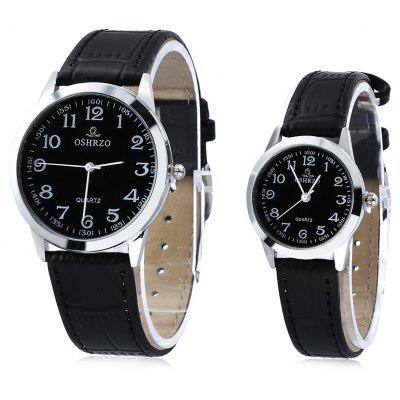 OSHRZO os8039p1 Couple Quartz Water Resistance Watch