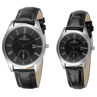 OSHRZO os8012p1 Couple Quartz Watch Decorative Sub-dial