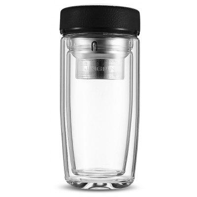 FINDNICE FNB - 0124 Double Layer Glas Wasserflasche