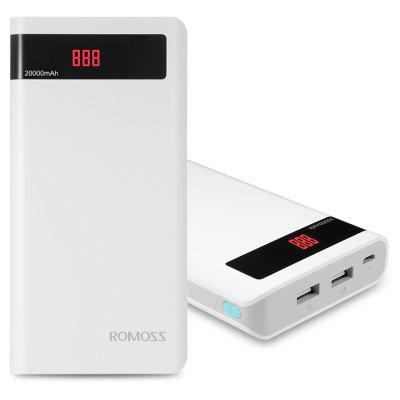 ROMOSS Sentido 6P 20000mAh Power Bank Pantalla LED 2 USB