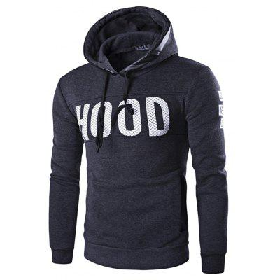 Buy DEEP GRAY L Hooded Sweatshirt Men Pullover Hoodie with Velour for $21.49 in GearBest store