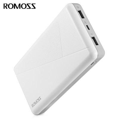 Buy WHITE ROMOSS PIE 20 20000mAh Power Bank 2.1A Dual USB Output for $23.44 in GearBest store