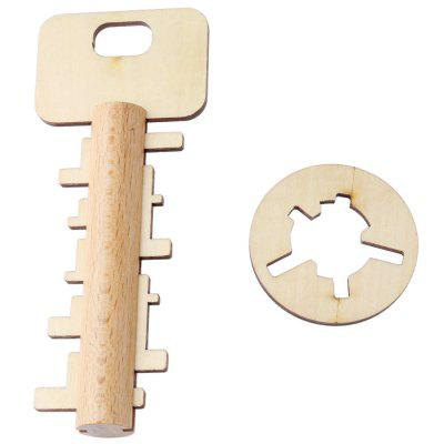 Bamboo Unlock Key Puzzle Toy for Kids Children Adult