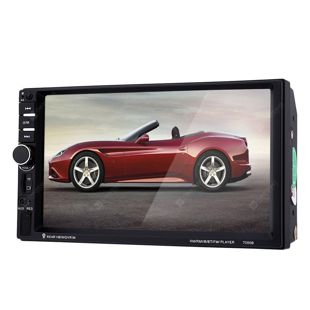 7060B 7 polegadas Car Audio Stereo MP5 Player - PRETO COM CÂMERA