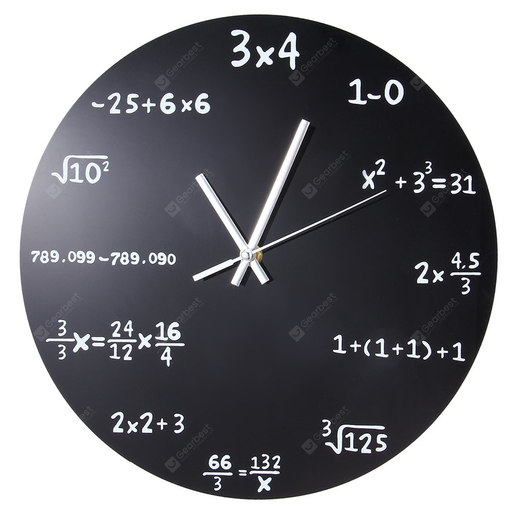 Matemática Blackboard Pop Quiz Clock
