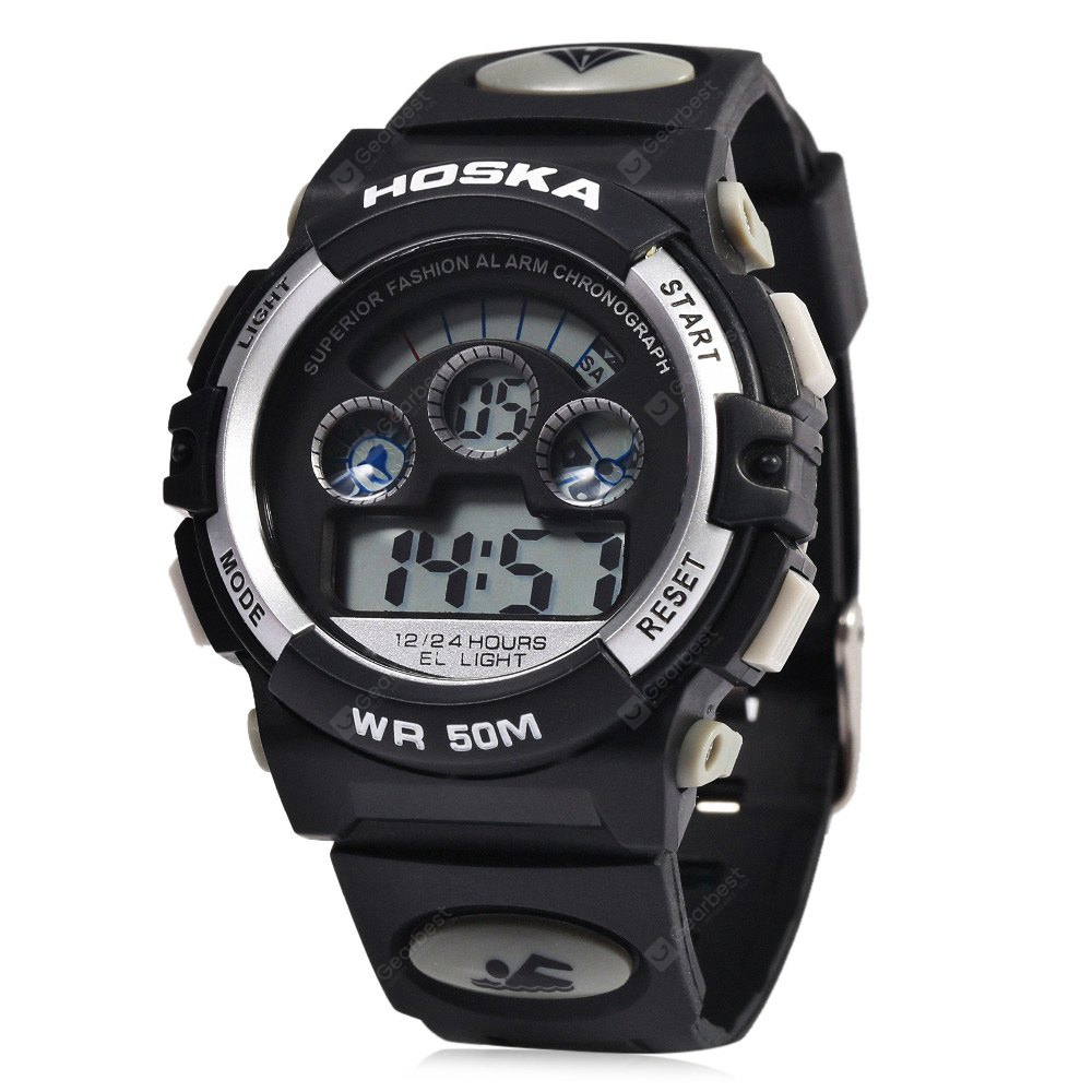 HOSKA H001B Kinder LED Digitaluhr