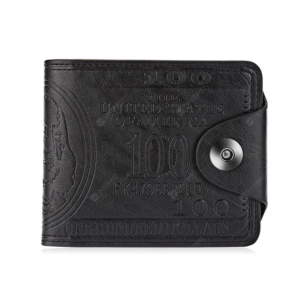 Guapabien Cash Pattern Genuine Leather Short Wallet for Men