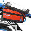 ROSWHEEL 121273 1L Touchable Bike Front Tube Bag - ORANGE