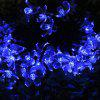 Solar Powered Waterproof 50 LEDs Flower String Lamp Home Yard Christmas Decoration - BLUE