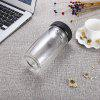 FINDNICE FNB - 0124 Double Layer Glass Water Bottle - TRANSPARENT