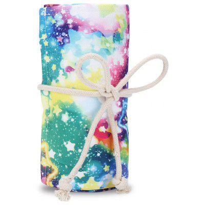 Watercolor Ink Painting Colored Roll up Pencil Wrap
