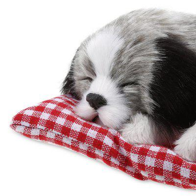 Simulation Sleeping Dog Toy with Cloth PadStuffed Cartoon Toys<br>Simulation Sleeping Dog Toy with Cloth Pad<br><br>Package Contents: 1 x Sleeping Dog Toy<br>Package Size(L x W x H): 18.00 x 14.00 x 6.00 cm / 7.09 x 5.51 x 2.36 inches<br>Package weight: 0.0880 kg<br>Product Size(L x W x H): 17.50 x 13.50 x 6.00 cm / 6.89 x 5.31 x 2.36 inches