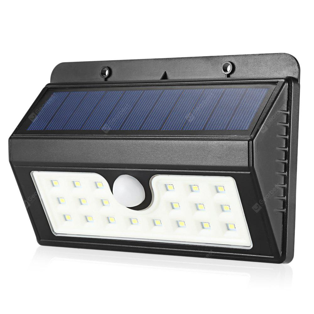Solar Motion Sensor Light 20-LED 3 Modes Triangle Wall Lamp