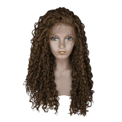 Women Free Part Lace Front Fluffy Curly Long Synthetic Wig