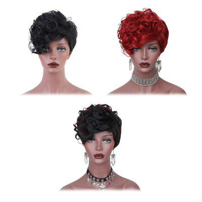 AISIHAIR Side Bang Short Shaggy Layered Curly Hair WigSynthetic Wigs<br>AISIHAIR Side Bang Short Shaggy Layered Curly Hair Wig<br><br>Advantage: Very Soft and Fashionable<br>Bang Type: Side<br>Cap Size: Adjustable<br>Gender: Female<br>Lace Wigs Type: None Lace Wigs<br>Length: Short<br>Length Size(CM): 25<br>Length Size(Inch): 9.84<br>Material: Synthetic High Temperature Hair<br>Net Type: Buckle Net<br>Package Contents: 1 x Wig<br>Package size (L x W x H): 28.00 x 19.00 x 5.00 cm / 11.02 x 7.48 x 1.97 inches<br>Package weight: 0.1750 kg<br>Product size (L x W x H): 25.00 x 5.00 x 2.00 cm / 9.84 x 1.97 x 0.79 inches<br>Product weight: 0.1700 kg<br>Style: Curly<br>Type: Full Wigs