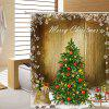 Christmas Snow Tree Waterproof Shower Curtain 180 x 180cm - MULTICOLOR