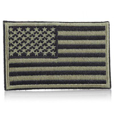 Buy USA Flag Tactical Patch Embroidery Magic Paste Sticker, BLACK AND GREEN, Outdoors & Sports, Other Sports Gadgets for $1.01 in GearBest store