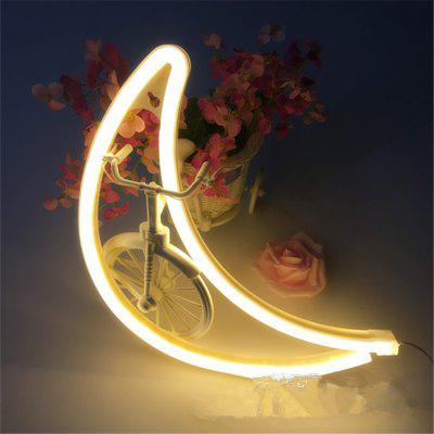 Creative LED Moon Shape Neon Night Light Wall Lamp
