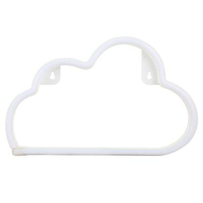 Creative LED Cloud Shape Neon Night Light Wall LampNight Lights<br>Creative LED Cloud Shape Neon Night Light Wall Lamp<br><br>Is Batteries Included: No<br>Is Batteries Required: No<br>Is Bulbs Included: Yes<br>Light Source: LED Bulbs<br>Package Contents: 1 x Neon Wall Lamp<br>Package Size(L x W x H): 31.00 x 19.50 x 2.50 cm / 12.2 x 7.68 x 0.98 inches<br>Package weight: 0.2910 kg<br>Product weight: 0.1910 kg<br>Type: Lamp, Atmosphere, Night Light<br>Wattage: 0-5W