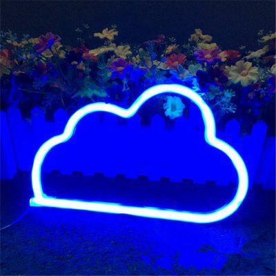 Creative LED Cloud Shape Neon Night Light Wall Lamp
