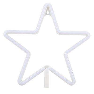 LED Star Shape Neon Light Wall Lamp Holiday DecorationsNight Lights<br>LED Star Shape Neon Light Wall Lamp Holiday Decorations<br><br>Is Batteries Included: No<br>Is Batteries Required: Yes<br>Is Bulbs Included: Yes<br>Light Source: LED Bulbs<br>Package Contents: 1 x Neon Wall Lamp<br>Package Size(L x W x H): 29.00 x 29.00 x 2.70 cm / 11.42 x 11.42 x 1.06 inches<br>Package weight: 0.3680 kg<br>Product weight: 0.2380 kg<br>Type: Night Light<br>Wattage: 0-5W