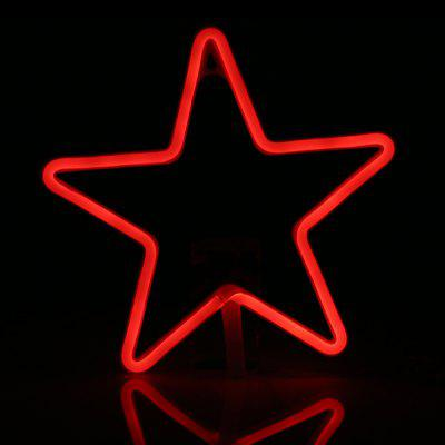 LED Star Shape Neon Light Wall Lamp Holiday Decorations