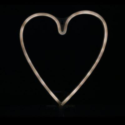 Buy WARM WHITE LIGHT BATTERY LED Heart Shape Neon Light Wall Lamp Holiday Decorations for $5.28 in GearBest store