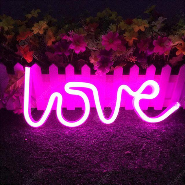 LED Love Neon Night Light Wall Lamp Holiday Decorations