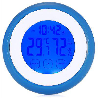 LCD Thermometer Humidity Meter Digital Alarm Clock