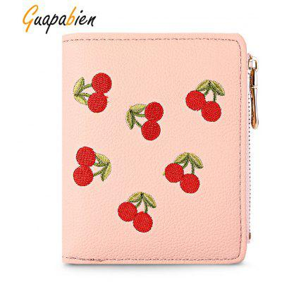 Guapabien Coin Zipper Women Short Wallet Purse Card Holder