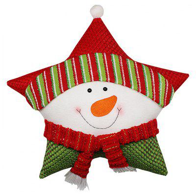 Buy SNOWMAN Christmas Throw Pillow Pentagram Shape Cushion Home Decor for $6.07 in GearBest store