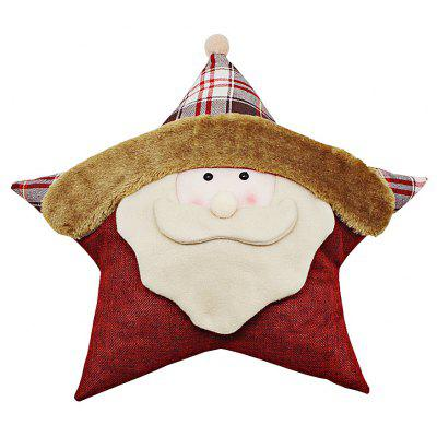 Buy MR SANTA CLAUS Santa Claus Throw Pillow Pentagram Shape Cushion Christmas Gift for $9.06 in GearBest store