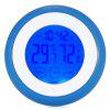 LCD Thermometer Humidity Meter Digital Alarm Clock - BLUE
