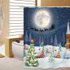 180 x 180cm Christmas Snowtree 3D Printing Shower Curtain - MULTICOLOR
