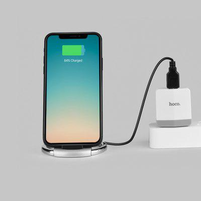 HOCO CW5 Qi Wireless Charging Pad Stand Desktop HolderChargers &amp; Cables<br>HOCO CW5 Qi Wireless Charging Pad Stand Desktop Holder<br><br>Package Contents: 1 x Wireless Charger<br>Package Size(L x W x H): 10.00 x 12.00 x 16.00 cm / 3.94 x 4.72 x 6.3 inches<br>Package weight: 0.2110 kg<br>Product Size(L x W x H): 5.50 x 5.80 x 10.00 cm / 2.17 x 2.28 x 3.94 inches<br>Product weight: 0.0700 kg