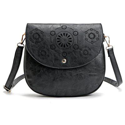 Guapabien Hollow Out Flap Women Crossbody Shoulder BagCrossbody Bags<br>Guapabien Hollow Out Flap Women Crossbody Shoulder Bag<br><br>Closure Type: Magnetic Closure<br>Embellishment: Hollow Out<br>Gender: For Women<br>Handbag Type: Crossbody bag<br>Main Material: PU<br>Occasion: Versatile<br>Package Contents: 1 x Crossbody Bag<br>Package Size(L x W x H): 27.00 x 8.00 x 25.00 cm / 10.63 x 3.15 x 9.84 inches<br>Pattern Type: Solid<br>Style: Vintage<br>Weight: 1.0800kg<br>With Pendant: No