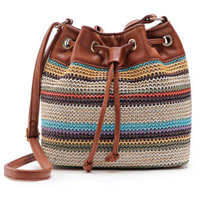 Guapabien Bohemian Striped Shoulder Crossbody Bucket BagCrossbody Bags<br>Guapabien Bohemian Striped Shoulder Crossbody Bucket Bag<br><br>Closure Type: Magnetic Closure<br>Embellishment: Embroidery<br>Gender: For Women<br>Handbag Size: Small(20-30cm)<br>Handbag Type: Bucket Bag<br>Main Material: PU<br>Occasion: Versatile<br>Package Contents: 1 x Crossbody Bag<br>Package size (L x W x H): 15.00 x 5.00 x 16.00 cm / 5.91 x 1.97 x 6.3 inches<br>Package weight: 0.2700 kg<br>Pattern Type: Striped<br>Product size (L x W x H): 24.00 x 10.00 x 25.00 cm / 9.45 x 3.94 x 9.84 inches<br>Product weight: 0.2600 kg<br>Style: Fashion