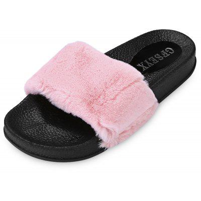 Trendy Casual Autumn Flat Skid-resistance Fur Home Slippers
