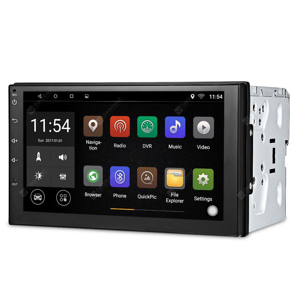 7003 Android 6.0 Car Multimedia Player - BLACK