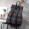 Guapabien Women Patchwork Ethnic Style Printed Backpack - BLACK
