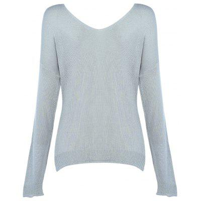Lace-up V-neck Long Sleeve Knitted Women BlouseSweaters &amp; Cardigans<br>Lace-up V-neck Long Sleeve Knitted Women Blouse<br><br>Collar: V-Neck<br>Elasticity: Micro-elastic<br>Material: Acrylic<br>Package Contents: 1 x Blouse<br>Sleeve Length: Full<br>Style: Fashion<br>Type: Pullovers<br>Weight: 0.2700kg