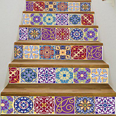 DIY Tile Decals Stair StickersWall Stickers<br>DIY Tile Decals Stair Stickers<br><br>Material: PVC<br>Package Contents: 1 x Stair Sticker Set<br>Package Size(L x W x H): 5.50 x 5.50 x 18.00 cm / 2.17 x 2.17 x 7.09 inches<br>Package weight: 0.3600 kg<br>Product weight: 0.3600 kg<br>Style: Vintage<br>Usage: Household<br>Use: Kitchen, Living Room