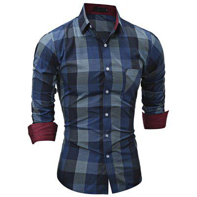 Turn-down Collar Long Sleeve Plaid Pocket Men ShirtMens Shirts<br>Turn-down Collar Long Sleeve Plaid Pocket Men Shirt<br><br>Collar: Turn-down Collar<br>Material: Cotton, Polyester<br>Package Contents: 1 x Shirt<br>Shirts Type: Casual Shirts<br>Sleeve Length: Full<br>Weight: 0.2510kg