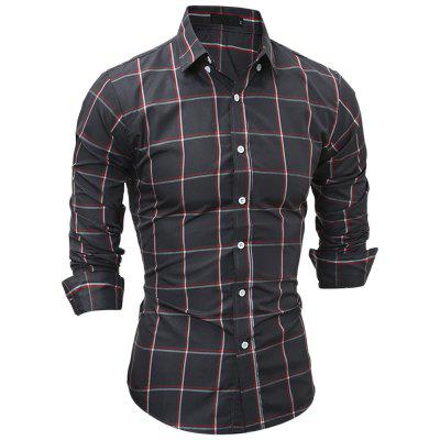 Turn-down Collar Long Sleeve Plaid Pocket Button Men ShirtMens Shirts<br>Turn-down Collar Long Sleeve Plaid Pocket Button Men Shirt<br><br>Collar: Turn-down Collar<br>Material: Cotton, Polyester<br>Package Contents: 1 x Shirt<br>Shirts Type: Casual Shirts<br>Sleeve Length: Full<br>Weight: 0.2510kg